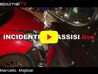 Incidente stradale in località Ponte San Vittorino, ad Assisi, le immagini