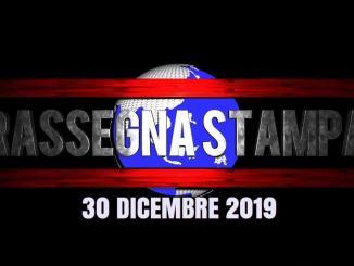 🔴 Video rassegna stampa del 30 dicembre 2019 prime pagine