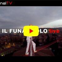 Spettacolare esibizione del funambolo Andrea Loreni, realizzata con la sua Go Pro