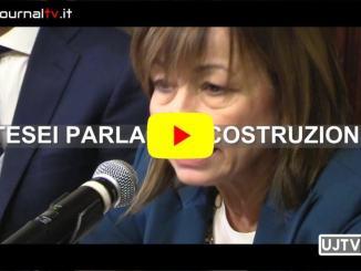 Conferenza di fine anno presidente Umbria, Tesei parla di ricostruzione