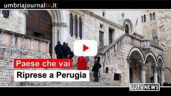 Rai 1 e Paese che vai, tre giorni di riprese anche a Perugia
