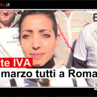 Partite IVA, manifestazione a Perugia, intervista a Laila Rossini
