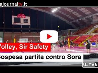 Volley, Sir Safety Conad Perugia, sospesa partita con Sora