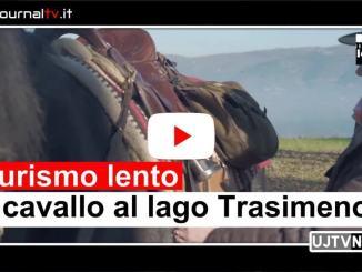 Video passeggiata a cavallo al lago Trasimeno, turismo lento