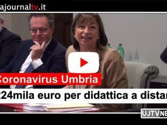Coronavirus Umbria, 224mila euro per didattica a distanza