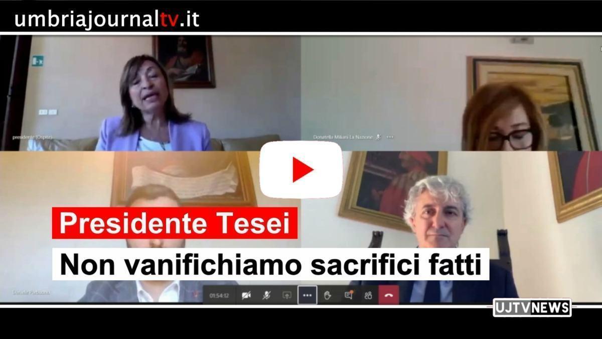 Tesei, non vanifichiamo i sacrifici fatti, appello della governatrice Umbria