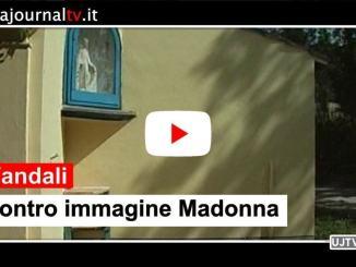 Atto vandalico a edicola con immagine Madonna, a Ponte San Giovanni