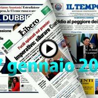 Video rassegna stampa pdf prime pagine giornali 27 gennaio 2021