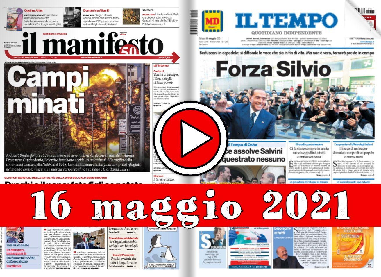 Rassegna stampa del 15 aprile 2021 prime pagine dei giornali in pdf