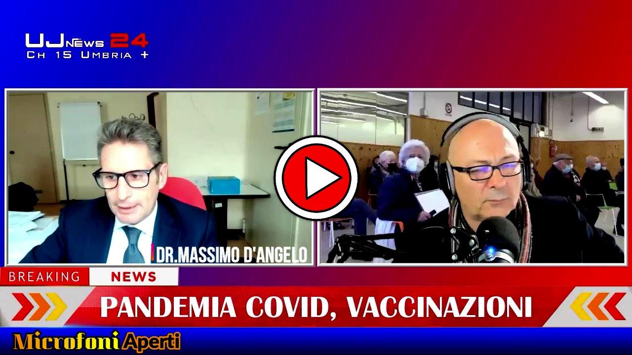 Vaccinazioni, a Microfoni aperti parla il commissario emergenza covid, Massimo D'Angelo