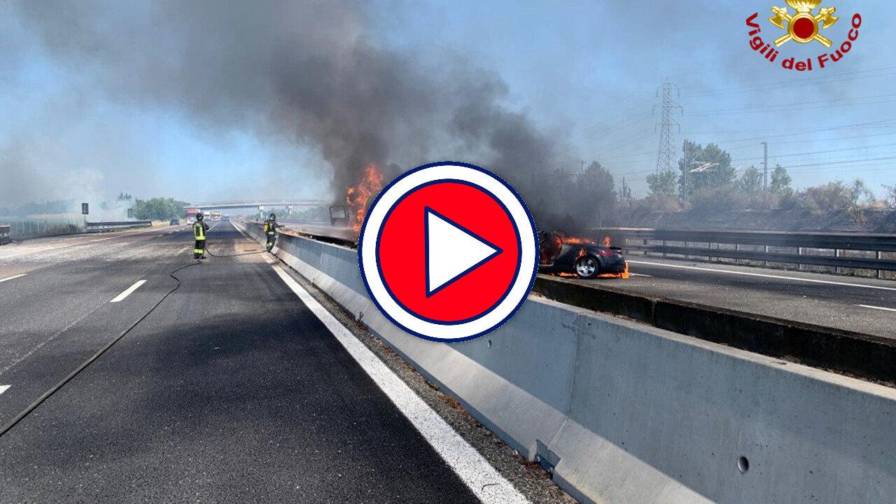 Incendio in A1, due camionisti morti, non si sono salvali dalle fiamme