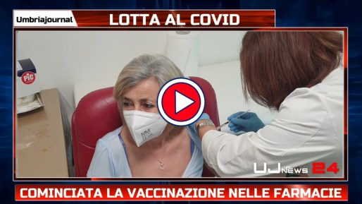 Primi vaccini anticovid nelle farmacie umbre, sempre vicini ai cittadini