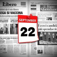 Video rassegna stampa sfogliabile e scaricabile prime in pdf 22 settembre 2021
