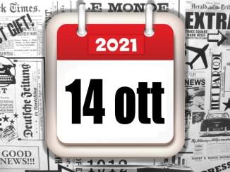 Rassegna stampa sfogliabile e scaricabile del 14 ottobre 2021