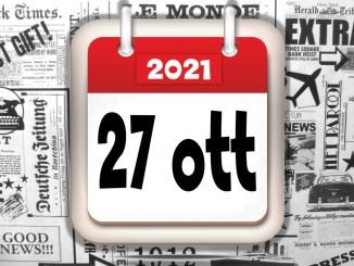 Video rassegna stampa di mercoledì 27 ottobre 2021 giornali in pdf