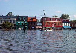 Flooding in Annapolis from Hurricane Isabel