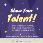 Join in the Talent Show to support the upcoming Mission Trip!
