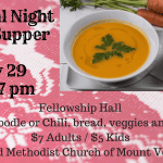 Magical Night Soup Supper is this week!