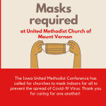 Masks Now Required for All at United Methodist Church of Mount Vernon