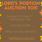 We need your donations for the next Lord's Portion Auction!