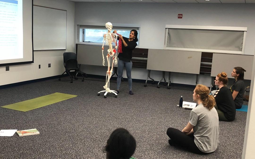 Studying Anatomy on a Yoga Mat