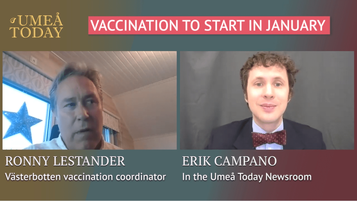 Västerbotten vaccination head Ronny Lestander speaks with Umeå Today's Erik Campano about the region's plans for immunizing the general population against the coronavirus.