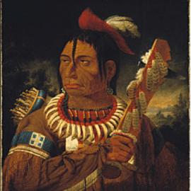 "Kane, Paul, Cunnawa-bum (Cun-naw-wa-bum) ""One that looks at the stars,"" 1849-56, oil on canvas, 64.2 x 51.5 cm. Toronto: Royal Ontario Museum."