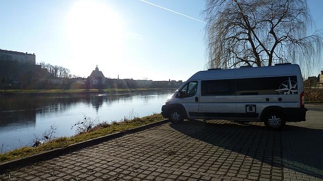 Freistehen an der Elbe bei Pirna