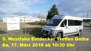 UMIWO läd ein: 5. Westfalia Entdecker Treffen Gotha am 17. März 2018