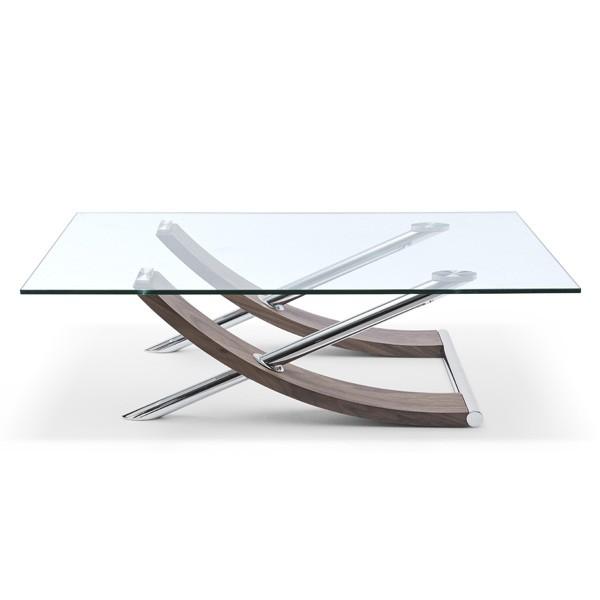 Whiteline Robin Glass Coffee Table Living Room Furniture Ultra Modern