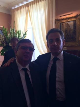 André Schneider avec Sarko