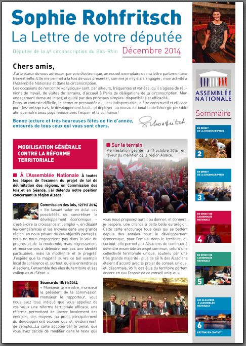 Newsletter Rohfritsch Décembre 2014