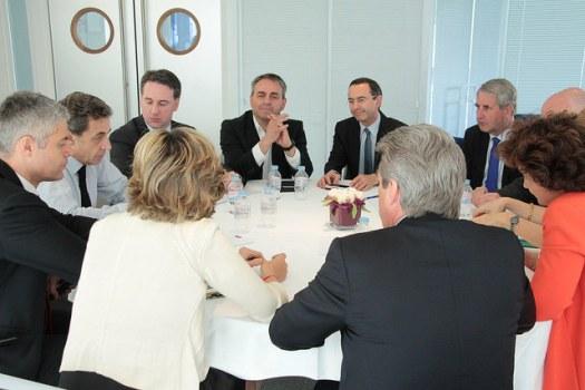 Reunion Sarkozy chefs de file regionaux ES
