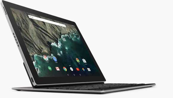 Google Pixel C tablet and keyboard.