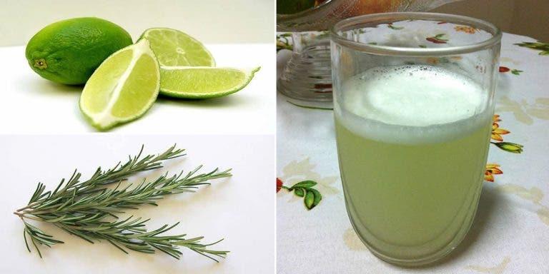 Suco de limão com alecrim para auxiliar no tratamento de varizes e pressão alta