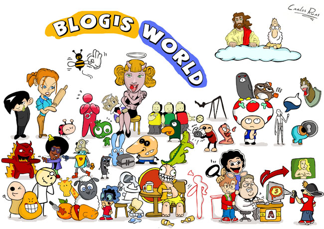 "Wall paper ""Blog's World!"""