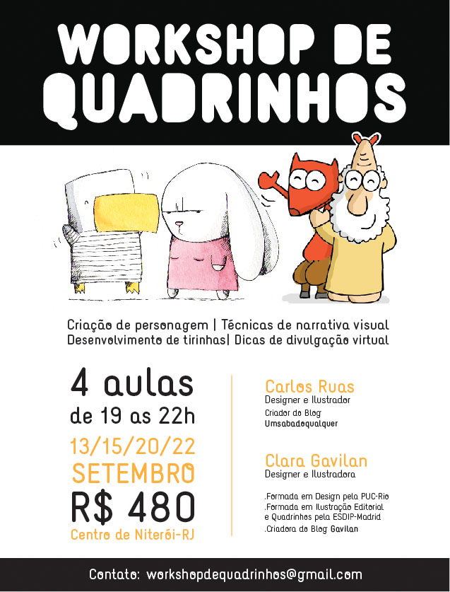 Workshop de quadrinhos!