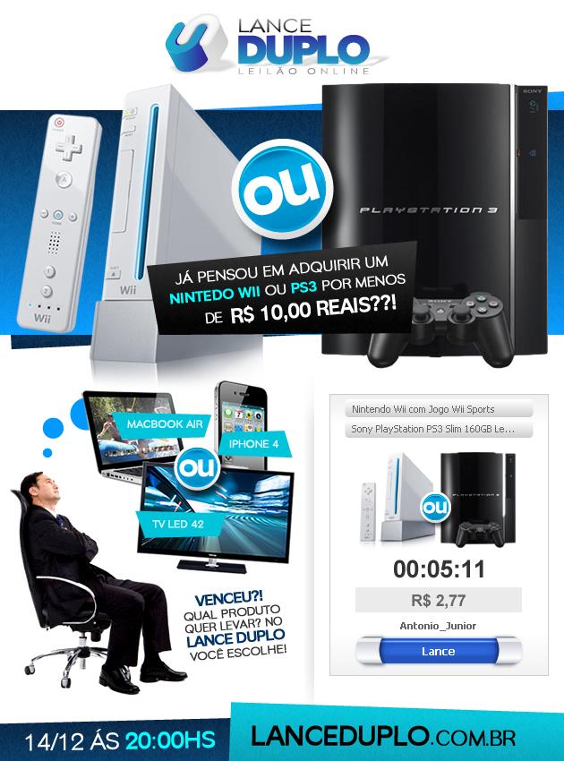 LANCE DUPLO – concorra a um PS3 e um XBOX!