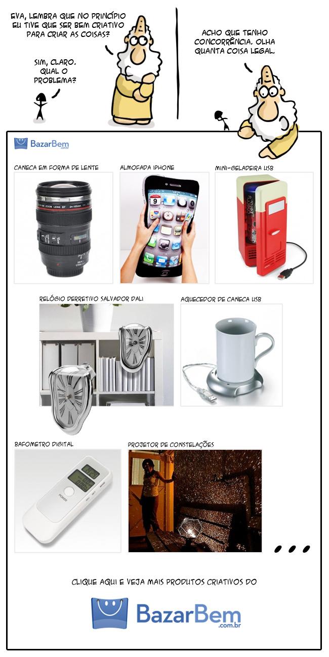 Produtos criativos é no BazarBem