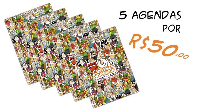 Promoção 5 agendas por R$50,00