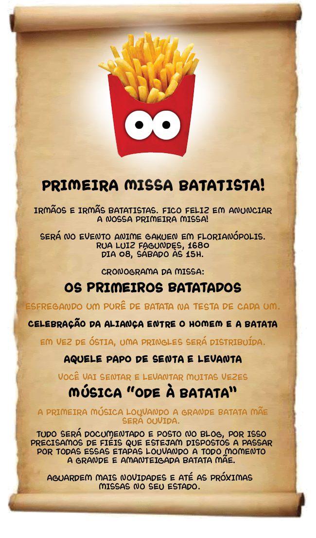 Primeira missa Batatista