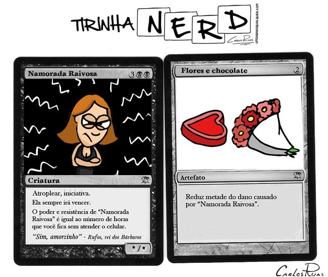 Carta de Magic Namorada raivosa – Tirinha Nerd 2