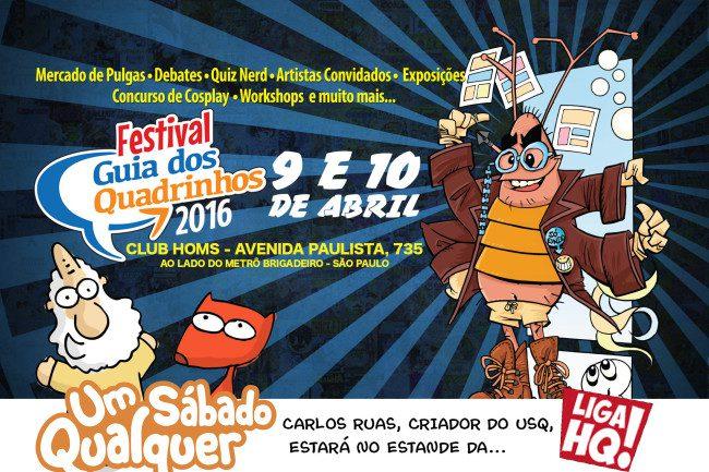 """Um Sábado Qualquer no """"Festival Guia dos Quadrinhos"""" 9 e 10 de Abril!"""