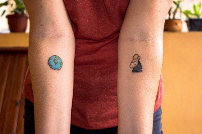 """Leitora tatua personagem Darwin do """"Um Sábado Qualquer"""""""