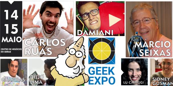 Carlos Ruas no GeekExpo em Fortaleza!