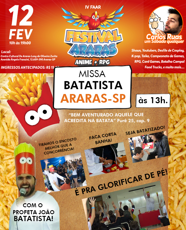 Missa Batatista em Araras – SP!