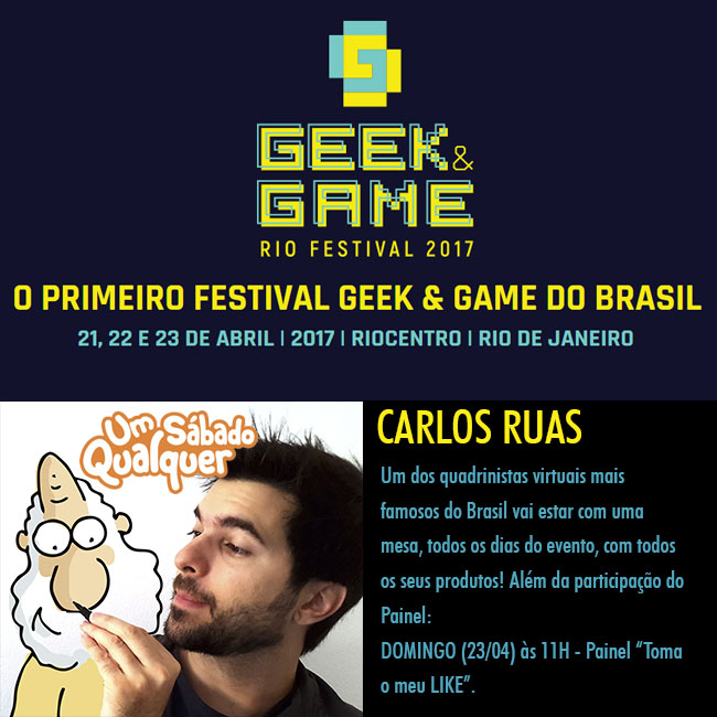 Carlos Ruas no Geek and Game RJ