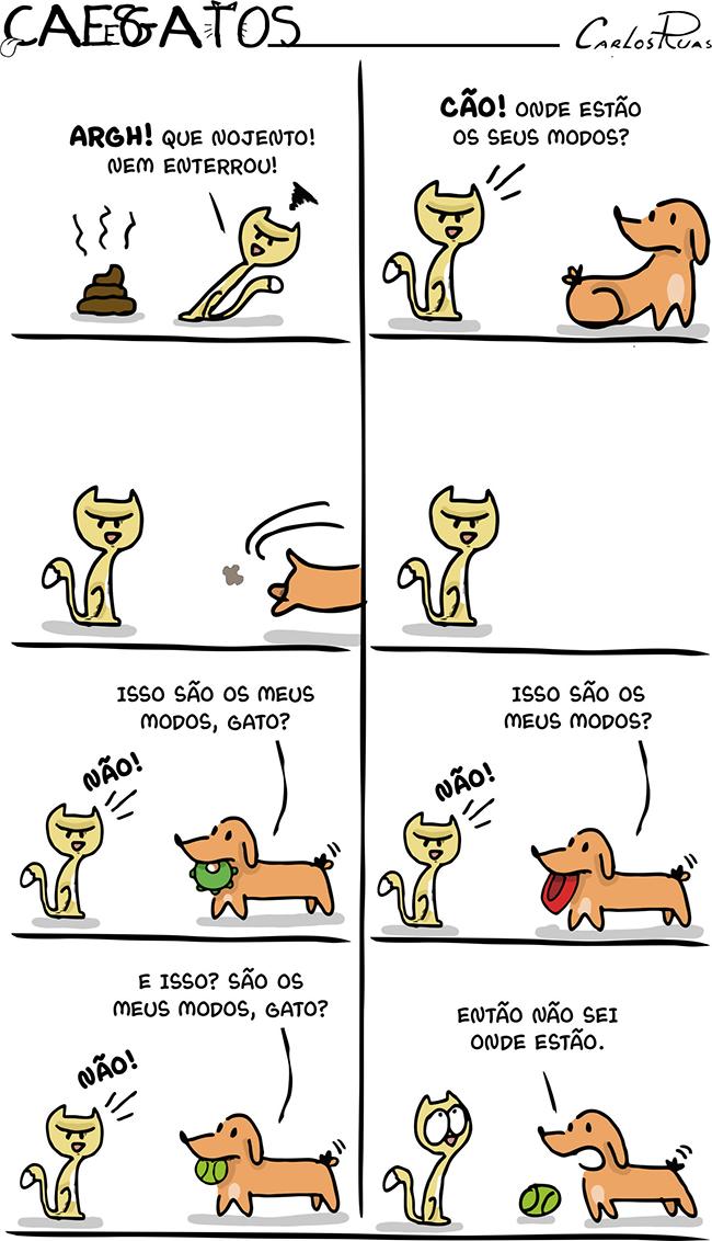 Cães e Gatos – Onde estão seus modos?