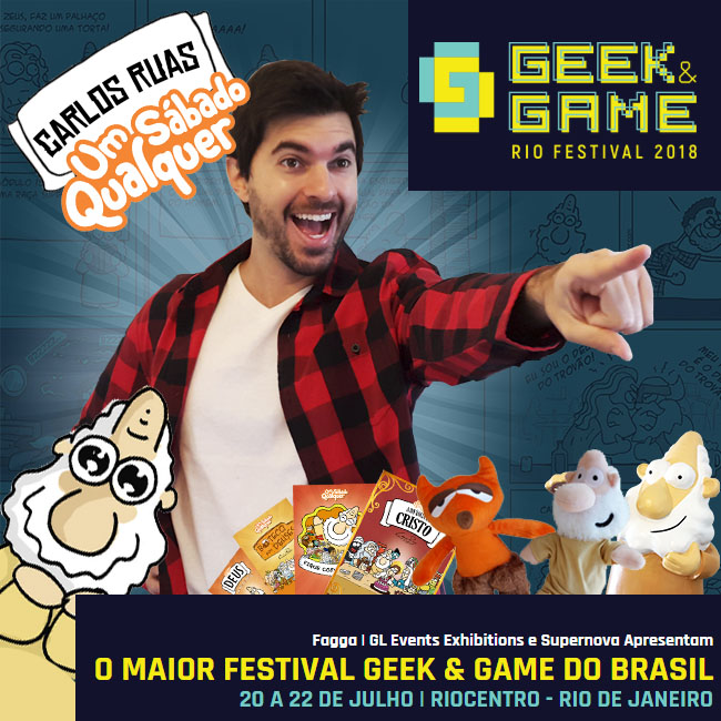 Carlos Ruas no Geek and Game Rio festival!!!