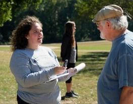 Sarah Rogers interivews Bill Bangham at Meadow Farm in Henrico County.